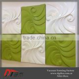 Colorful decorative 3d wall panels by thermoforming