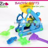Summer Plastic Windmill And Molds Beach Toy Set