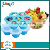 Food Grade Reusable Hot 7 Compartments Large Silicone Container Freezer Boxes Baby Food Storage