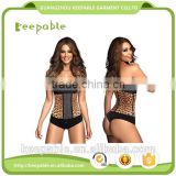 Hot Sale Women's Leopard Underbust Latex Corset Body Shaper Waist Trainer Latex Waist Cincher