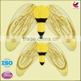 Factory outlet net yarn yellow bee pattern wholesale butterflt wings for sales