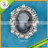 hot sale high quality cameo brooch