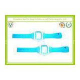 Ladies Fashion Power Balance Smart Watch Strap , 20mm Blue Rubber Wrist Watch Bands
