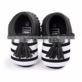 0-18month tassels kids dress shoes black and white striped M7031707