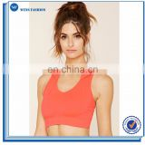 Latest design polyester spandex yoga wear wholesale dry fit sports bra fitness hooded sports bra