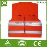 custom high visibility traffic mesh /solid fabric tape warning work jacket