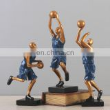 resin basketball player statue for festival gift