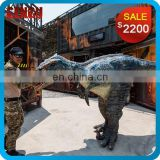 Walking with realistic animatronic dinosaur costume