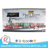 Hot sell raiway toy set battery operation smoke train model with light and music