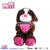 New plush stuffed dog with red heart plush toy 0574
