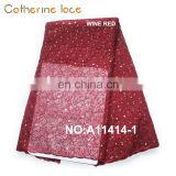 Catherine High Quality Embroidered Organza Lace Fabric For Dresses