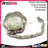 New fashion crystal diamond set purse hanger newest folding bag hanger