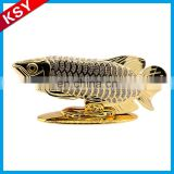 Hot Sale Fine Workmanship Distinctive Metal Ship Sculpture Fish For Home Decor