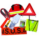 10 pcs emergency car first aid kit with safety vest