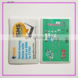 Soft plastic identification card holder with logo printing