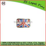 Factory price custom quality Rhinestone Union Jack Flag Belt Buckle