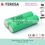 Hot selling wholesale external battery for Samsung sdi inr18650-25r 20A for e-bike rechargeable battery pack