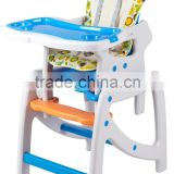 Wholesale Plastic High Chairs Children Restaurant Furniture 3 in 1 Baby Feeding High Chair HZ9105(wave point)