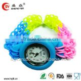 2014 New design loom band silicone watch face