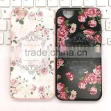 New products floral pattern phone case ,for iphone 6 Soft Flexible TPU case,for iphone 6plus anti-resistance case