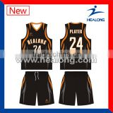 Fashion plus size basketball jersey with high quality