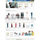 Clothing Dresses shopping website design,B2B B2C C2C web site designer