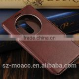 New design stand smart leather case for lg g3