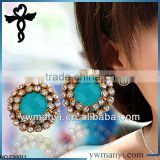 2014 fashion ladies earrings designs picturesstud designs rhinestone crystal glass packag earrings in zinc alloy jewelry E00011