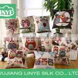 polyester linen printed throw pillow / back cushion wholesale