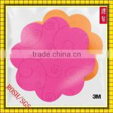 Customized Reusable Lovely Flower Shaped Sticky Note