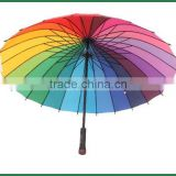 "27"" promotion golf rainbow with pouch carry bag golf umbrella"