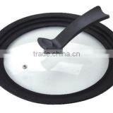 OEM universal silicone adjustable bowl pot lid diameter from 18 to 32cm