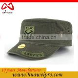Alibaba China Oem Fashion Unisex Flat Roof Military Hat for man outdoor Baseball Field Caps men