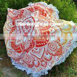 Indian Cotton Handmade Mandala Tapestry Beach Throw Roundie Yoga Mat Round Table Cover