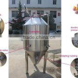laboratory beer brewing equipment cooling jacket ferment tanks stainless steel conical fermenter
