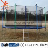 15ft trampoline elastic band with safety enclosure for sale