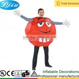 DJ-CB001 Men's Inflatable Red M&M Costume