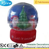 Christmas Santa and Snowman Inflatable Snow Globe with Led lights
