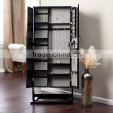 Fashion design living room furniture black jewelry armoire wardrobe with photo frame                                                                         Quality Choice