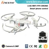 Headless mode 2.4G 4CH wifi rc drone quadcopter fpv with camera make in china.                                                                         Quality Choice