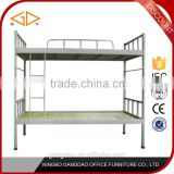 China Ningbo factory cheap heavy duty metal double steel army bunk bed