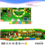 Children Toys commercial indoor playground with slide trampoline ball pool gun area