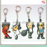 Football club soft pvc keychain