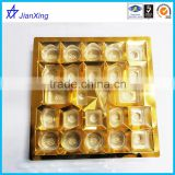 Disposable golden Plastic Biscuit Packing Trays chocolate tray