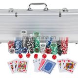 Trademark Poker 1000 11.5-Gram Dice-Striped Chips in Aluminum Case numbered board game                                                                         Quality Choice