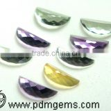 Multi Gemstones Watermelon Slice Cut Faceted Lot For Diamond Jewellery From Manufacturer