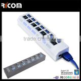 7 ports switch hub,electrical switch hub 3.0,switch power supply usb hub 3.0--HUB315-Shenzhen Ricom