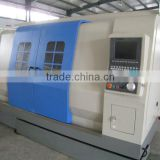cnc lathe double spindle CNC350A 2-axis cnc linear guide
