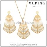 63234 Xuping Fashion Dubai 18k Gold Metal Pendant Earring Jewelry Set Charming Gold Jewellry Set