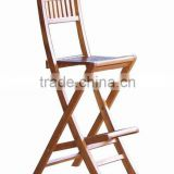 Teak Folding Bar Chair code OFC 010 made of teak wood